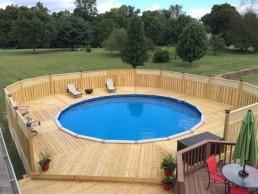 Above Ground Swimming Pool Decking
